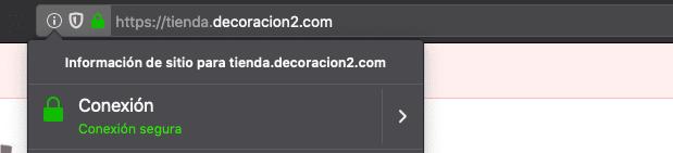 Comprueba que tiene candado verde y es una web segura con https://