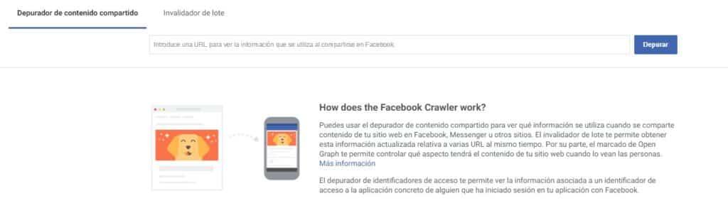 Cómo limpiar la caché de Facebook de una publicación realizada 1