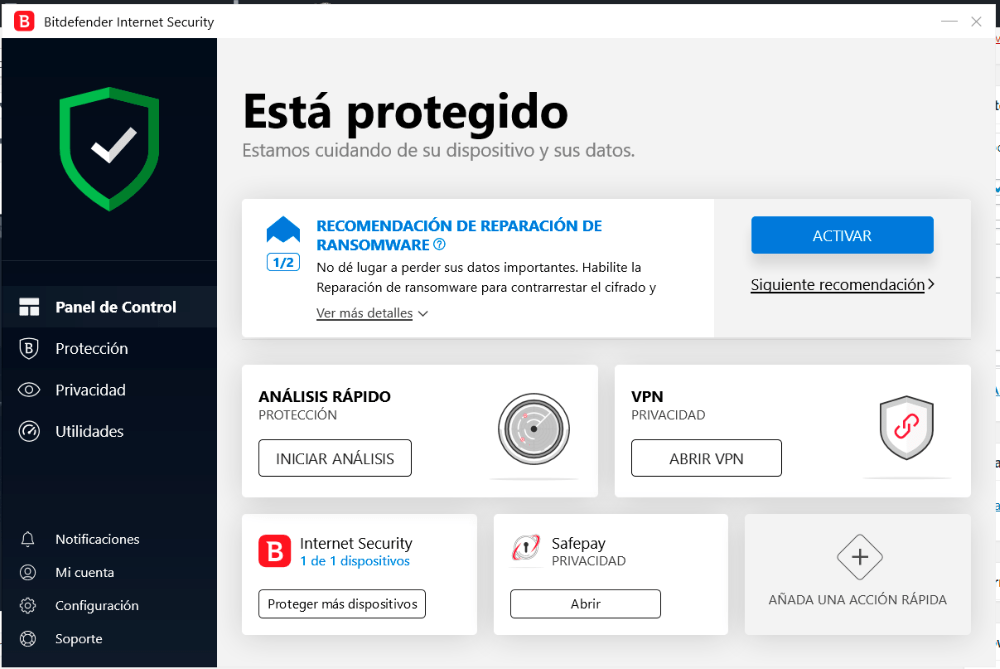 Protección máxima en Windows con Bitdefender Internet Security 1